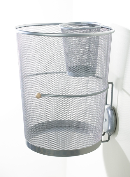 Waste Basket With Insert Hanging On Wall Jpg